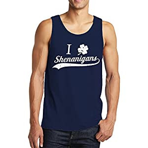 SpiritForged Apparel I Clover Shenanigans Men's Tank Top, Navy 3XL