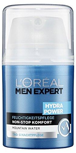 L'Oréal Men Expert Hydra Power Feuchtigkeitspflege mit Mountain Water (Tag- und Nachtpflege für Männer) 1 x 50 ml