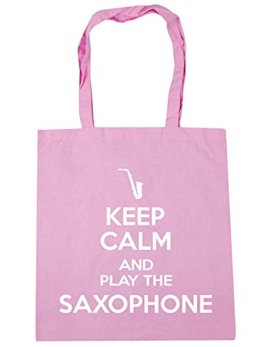 Saxophone Calm Play Keep 10 litres Tote Shopping Pink Bag 42cm Classic the Gym x38cm and Beach HippoWarehouse q54fXX