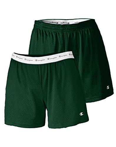 Champion Women's Mesh Short, Athletic Dark Green, X-Large (Champion Green Mesh Shorts)