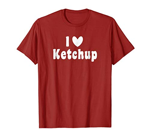 I love ketchup bottle summer barbeque funny halloween shirt -
