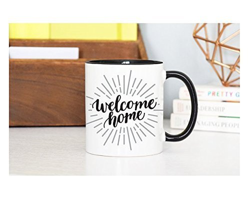 Welcome Home Mug, Home Sweet Home, There's No Place Like Home, Rose Gold Rebel, Unique Mug Calligraphy Mug