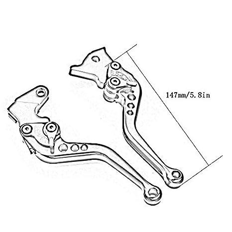 FXCNC Racing CNC Aluminum Short Adjustable Brake Clutch Levers for Suzuki GSXR600 GSXR750 2004-2005