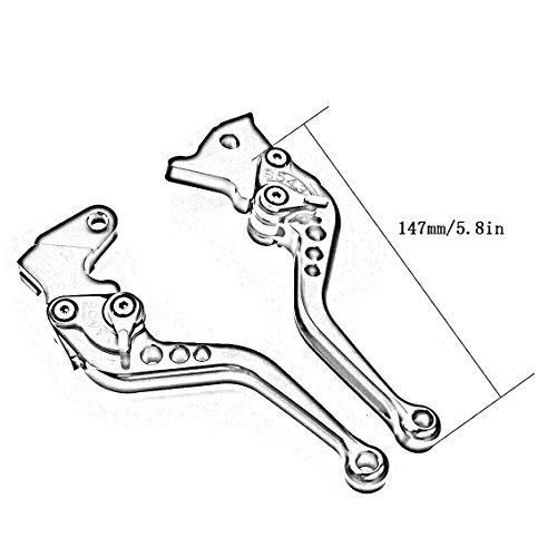 FXCNC Racing CNC Aluminum Short Adjustable Brake Clutch Levers for Triumph 675 STREET TRIPLE R//RX SPEED TRIPLE DAYTONA 675
