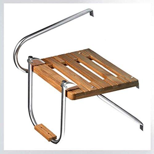(Whitecap Teak Boat Swim Platform with Ladder for Outboard)