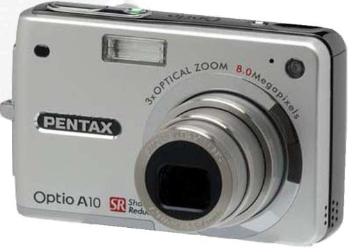 Pentax Optio A10 8MP Digital Camera with 3x Optical Zoom and Shake Reduction (Memory Pentax Digital)