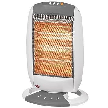 Estufa eléctrica de cuarzo Calefactor Calefacción immediato 3 elementos 1200 W: Amazon.es: Hogar