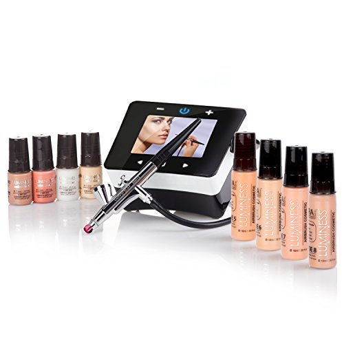 Luminess Air Epic2 Airbrush System with Deluxe 8-Piece Airbrush Foundation & Cosmetic Starter Kit, Shade Tan