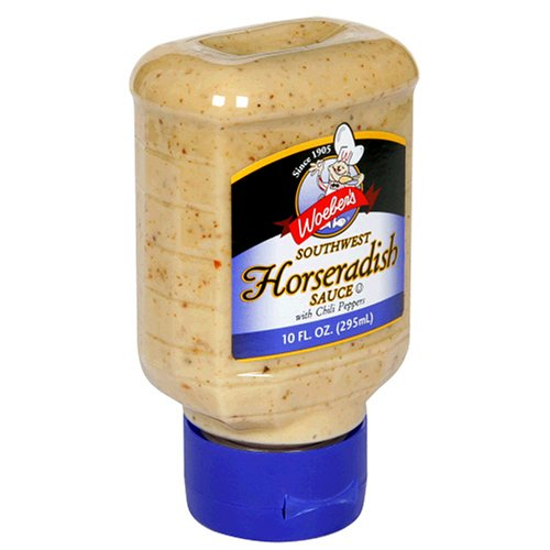 Woeber's Supreme Southwest Horseradish Sauce, Six 10-Ounce Units (60-Ounces)