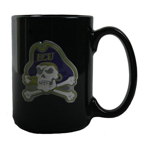 - GAP East Carolina Pirates 15oz Black Ceramic Mug