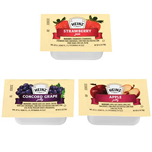 - Heinz Jelly & Jam Assortment (0.5 oz Packets, Pack of 200)