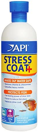 API Stress Coat Water Conditioner, Makes tap Water Safe, Replaces fish's Protective Coat Damaged by handli
