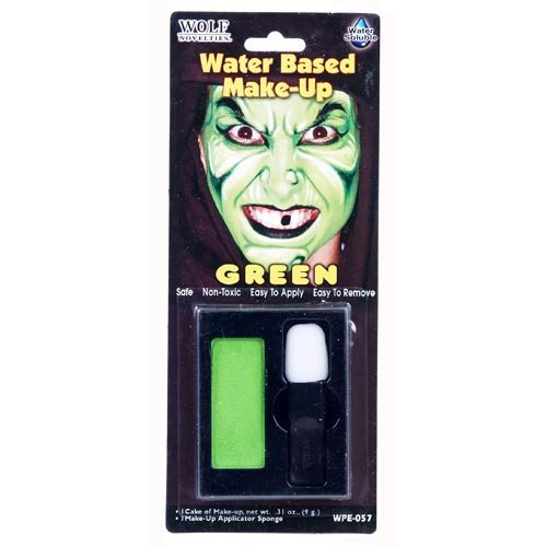 Green Water Based Make-Up (Green Face Makeup)