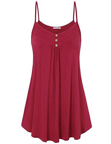 Donna amp;x shirt Corte Imbracatura Rosso Maniche Qin Informale A Maglie T Allentata qZ55xgUO