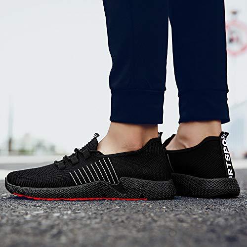 Semelles Mesh Noir Running De Sport Alikeey Casual Outdoor Lace Confortables Accessoires Chaussures Des Hommes Up 4Sv5qv