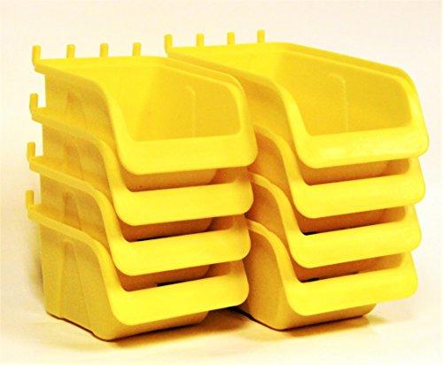 WallPeg Pegboard Bin Kit - Pegboard Parts Storage Craft Organizer Tool Peg Board Workbench Bins Accessories (Pegboard Bins)