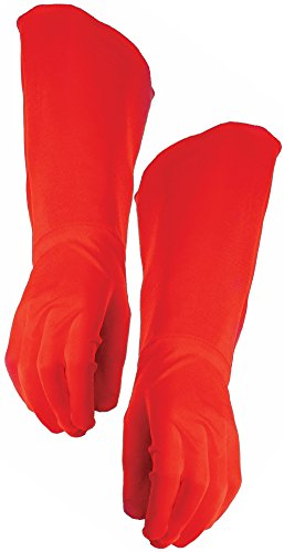 Costumes Superhero Red (Adult Super Hero Red Gauntlets Long Gloves Men Women Cosplay Costume)