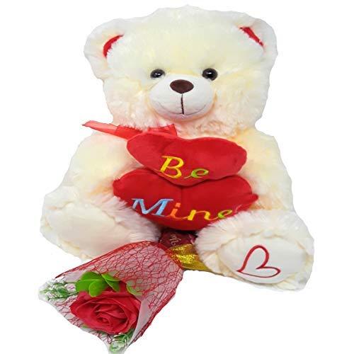 Mine Teddy Bear - Plush Valentines Bear with Be Mine Heart 12