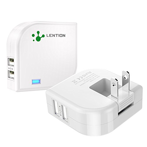 LENTION 2.4 Amp Dual Port Rotatable High Speed USB Wall Fast