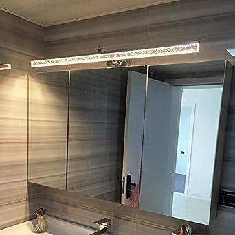 Moderna Aleación De Aluminio Led Lámpara De Pared De Acero Inoxidable Lavabo Del Gabinete Impermeable Baño Espejo Faros 16W L80Cm 3 Temperatura De Color: Amazon.es: Iluminación