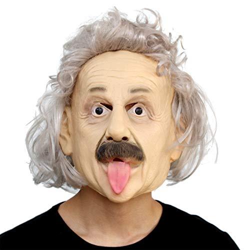 PartyCostume - Albert Einstein Mask - Halloween Realistic Famous People Celebrity Human Mask -