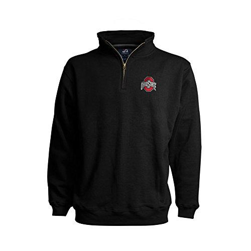- Elite Fan Shop Ohio State Buckeyes Classic Quarter Zip Sweatshirt Black - XL