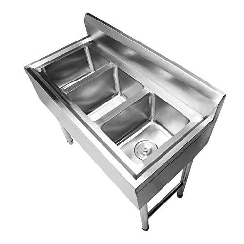 Lapha' Commercial Sink 3 Bowls Cleaning & Warewashing Kitchen Restaurant 18 Gauge 304 Stainless Steel
