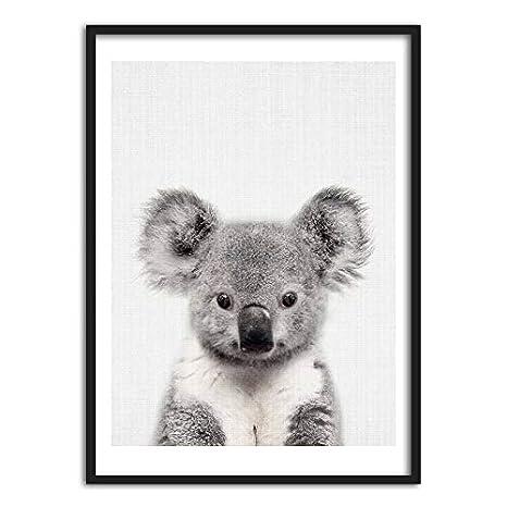 YCOLLC Nordic Nette Kunst Poster Und Drucke Koala Wandkunst