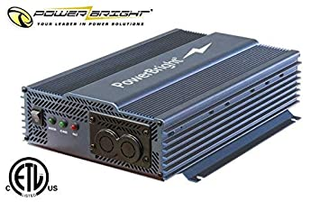 Power Bright APT1200-12 Pure Sine Power Inverter with Automatic transfer 1200 Watt continuous 2000 watt Peak 12 Volt ETL Approved under UL CSA Standards