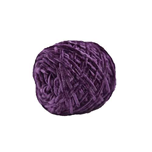 Violet DIY Velvet Chenille Yarn,200g/0.44lb Chunky Knit Yarn,Velvet Yarn,Crochet Chenille Yarn,DIY Fluffy Yarn,Knitting Chenille Yarn for Crochet Hat Scarf Blanket DIY Knitting Craft