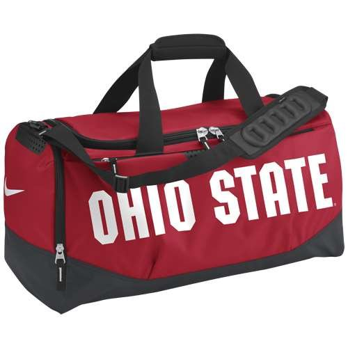 Ohio State Buckeyes Team Training Medium Duffle Bag by NIKE