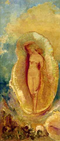 "Reproduction d'Art: Odilon Redon ""La Naissance de Vénus"" 30 x 70 ..."