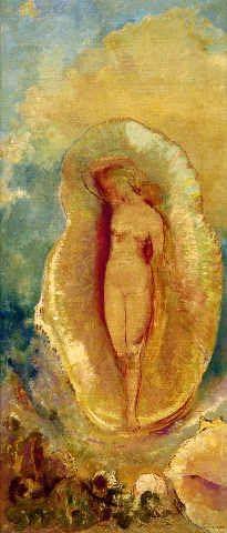"""Reproduction d'Art: Odilon Redon """"La Naissance de Vénus"""" 30 x 70 ..."""