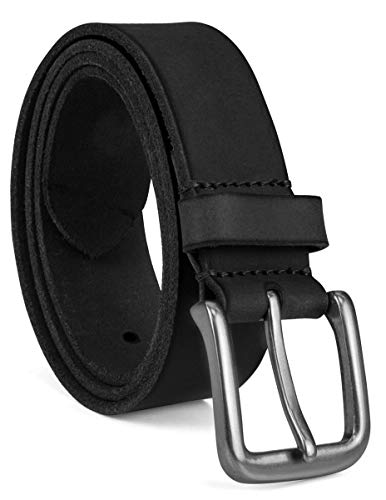 Timberland Men's 35Mm Classic Jean Belt, black silvery, 42