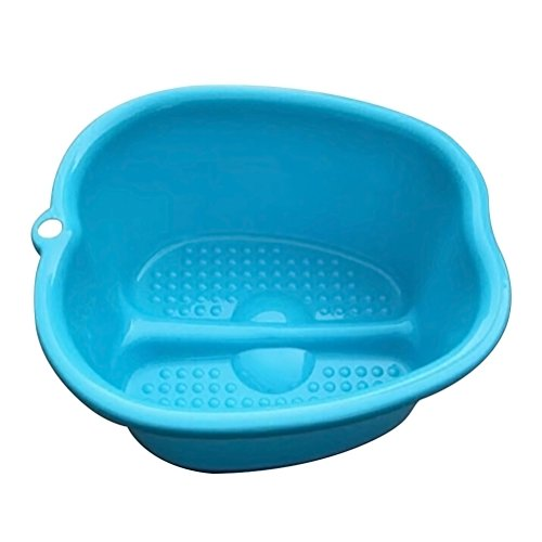 Supvox Baño de pies de plástico bañera grande para pies espesar baño de pies (azul)