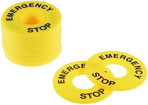 uxcell 緊急停止リング プッシュボタンスイッチの交換用 内径22mm イエロー 20個入り