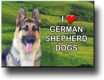 "German shepherd  refrigerator magnet 3 1//2 x 4 /"""