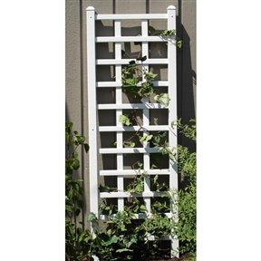 Trellis Wall Vinyl (Svitlife 6.25 Ft Wall Trellis in White Vinyl - Made in USA Wall Trellis Vinyl Ft Dura Trel White Mocha Garden Winchester Outdoor)