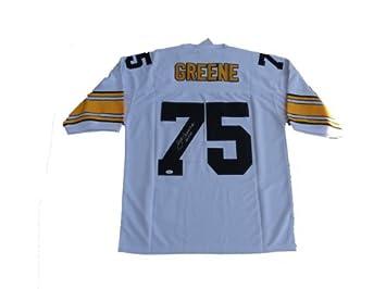 7a7f31a1c9c Joe Greene Signed Pittsburgh Steelers WHITE Jersey JSA at Amazon s ...