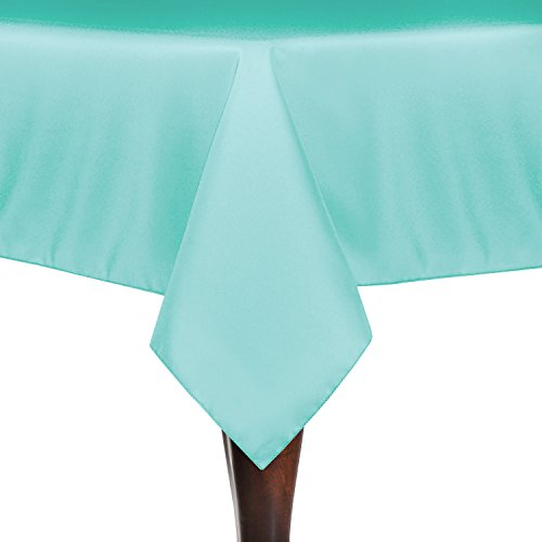 Ultimate Textile (3 Pack) 54 x 96-Inch Rectangle Tablecloth - for Wedding, Restaurant or Banquet use, Aqua Blue