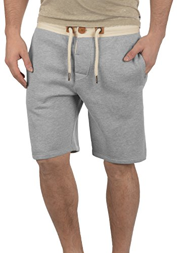 Pour 8242 Bermuda Melange Court Light Tripshorts En Doublure Grey Jogging Sweat solid Pantalon Homme Polaire Short 8SqUZ