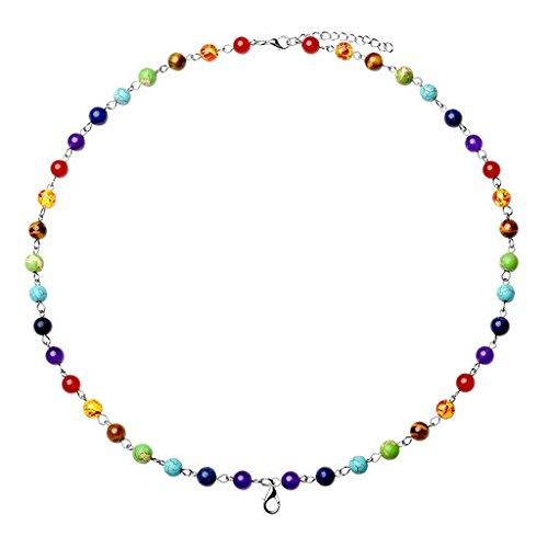 Purple Jade Beautiful Pendant (JOVIVI 7 Chakra Healing Crystal Locket Pendant Necklace for Chakra Balancing)