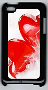 iPod 4Case Two Lovers Heart PC Custom iPod 4Case Cover Black