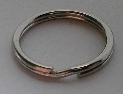 25 Pack Steel Split Ring, 2.0cm x 1.7cm x .14cm, 304 Stainless Steel Split Ring, Key Ring, Keychain Keys Link Connectors, SS