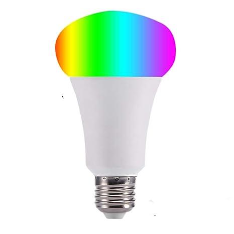Bombilla Inteligente LED WiFi Bombilla Inteligente LED Luz Regulable RGBW Cambio De Color FuncióN De SincronizacióN