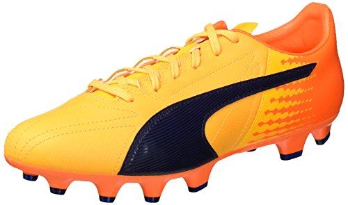 Puma Evospeed 17.2 Lth Fg, Botas de Fútbol para Hombre Amarillo (Ultra Yellow-peacoat-orange Clown Fish 02)