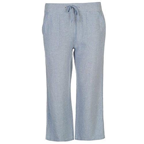 Full Circle Mujer Linen Mix Crop Pantalones Señoras Ropa De Abajo Ropa Vestir Denim