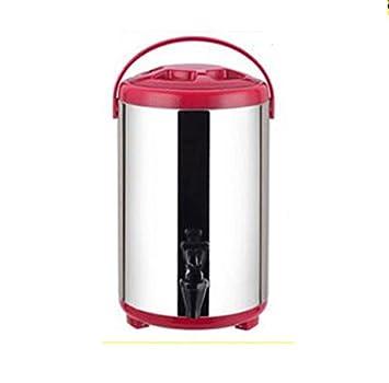 SQL 304 de acero inoxidable doble aislados barril leche tetera máquina de jugo de café 8L . red: Amazon.es: Hogar