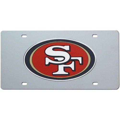 Laser Cut Tag - San Francisco 49ers Laser Etch Cut License Plate Tag Silver NFL Football