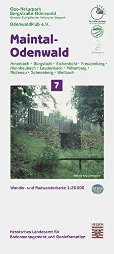 Topographische Freizeitkarten Hessen 1:20000. Naturpark Bergstrasse-Odenwald. Sonderblattschnitte auf der Grundlage der Topographischen Karte 1:25000 ... Miltenberg - Rüdenau - Schneeberg - Weilbach